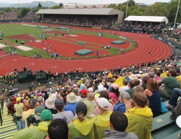 Photo of Hayward Field from stands