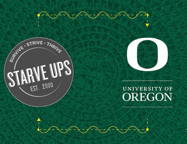 StarveUps and University of Oregon logos